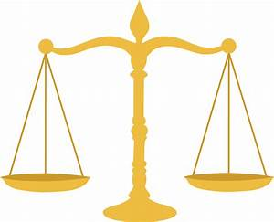 Golden Legal Scales - Free Clip Art
