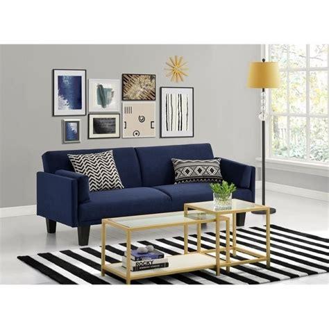 navy blue futon sofa bed metro futon sofa bed in navy blue 2034619