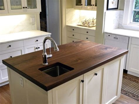 Farmhouse Kitchen Countertops by Distinctive Walnut Island Top By Devos Woodworking