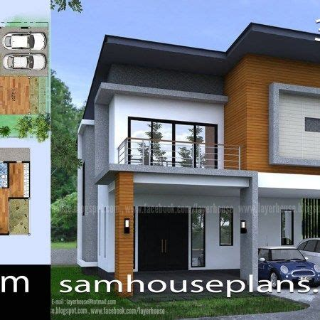 House Plans 7x12m with 4 Bedrooms Plot 8x15 Flat roof