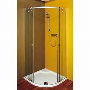 Paroi Douche 1 4 De Rond : cabines de douche en quart de rond double porte ~ Edinachiropracticcenter.com Idées de Décoration