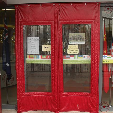 customize cotton thermal insulation curtain door canvas