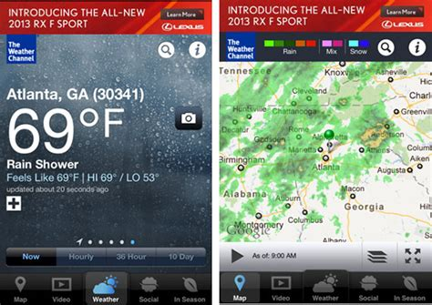 weather channel app for iphone the 10 best weather apps for your iphone 171 iphone appstorm 1219