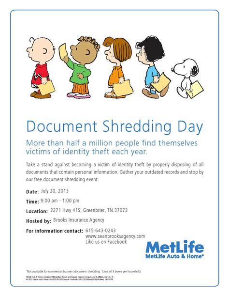 document shredding day protect  identity
