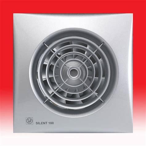 silent  cz extractor fan  shutter silver