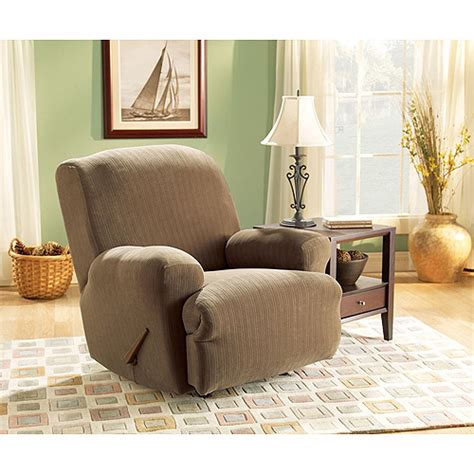 recliner sofa slipcovers walmart sure fit stretch pinstripe recliner slipcover walmart