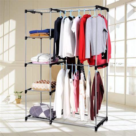 Hanging Closet Rack by Rod Closet Organizer Hanging Rack Clothes Storage