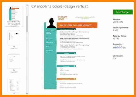 Modele Cv Word Gratuit Moderne 2015 by 13 Cv Gratuit Word Moderne Saewyc