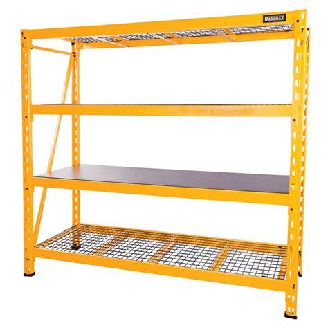 industrial storage racks dewalt 72 in h x 77 in w x 24 in d 4 shelf steel