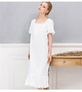 Long White Nightgown Summer Nightgowns For Women Ladies ...