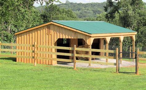 lean  sheds  horse barns  large overhangs