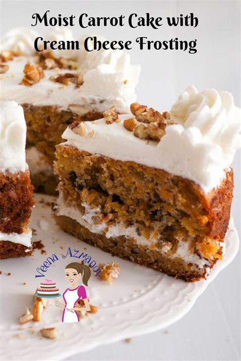 moist carrot cake  cream cheese frosting