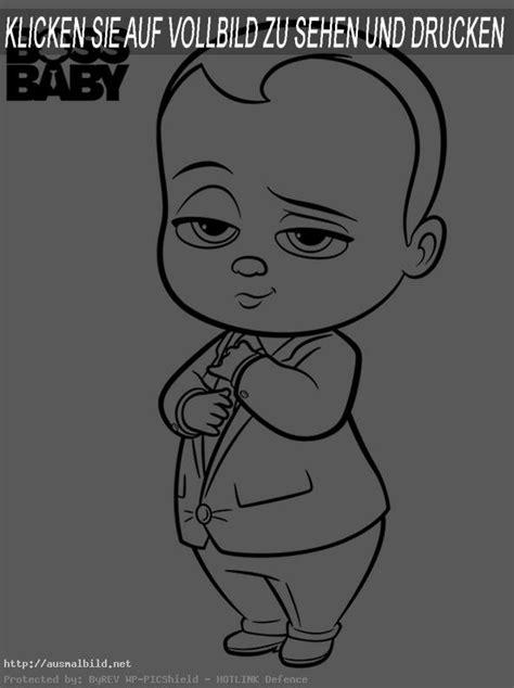 boss baby  ausmalbild