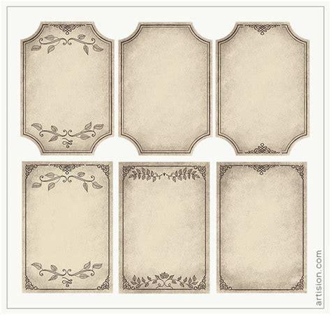 vintage frames skriv ut print  mallar ramar