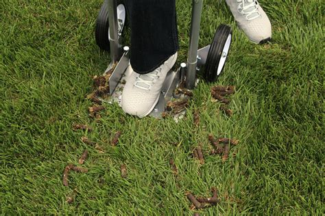 lawn aeration diy core aerator do it your self