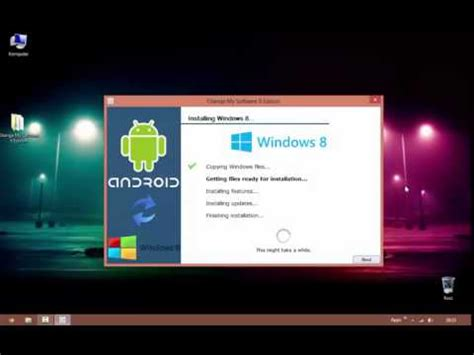 how to install windows 8 on any android tablet or mobile phone