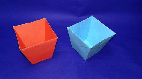 crafts diy paper bucket    easy origami paper