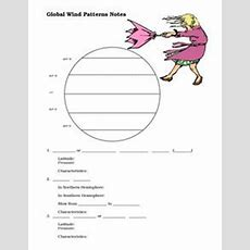 Global Wind Patterns Notes 8th  10th Grade Worksheet  Lesson Planet