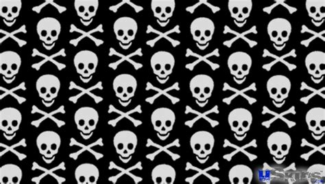 skull crossbones wallpaper wallpapersafari