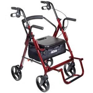 drive duet transport wheelchair rollator walker at healthykin
