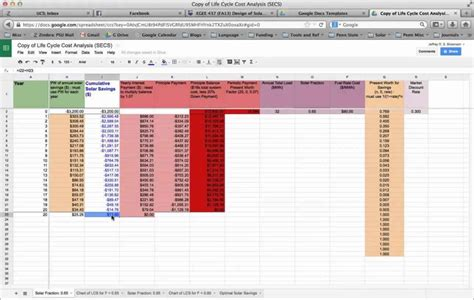 cost analysis spreadsheet template cost analysis