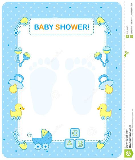 baby shower card  boys royalty  stock photography