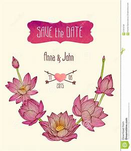 wedding invitation save the date stock vector image With wedding invitations with lotus flower