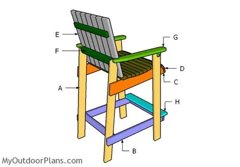 bar height adirondack chair plans myoutdoorplans free