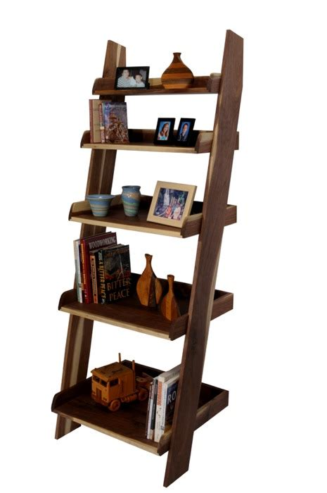 wood wooden ladder bookcase plans  plans