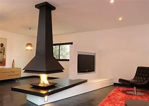 Cheminée à Foyer Ouvert : cheminee foyer ouvert metal ~ Premium-room.com Idées de Décoration