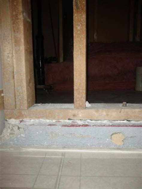 Interior Load bearing wall has Concrete block sticking out