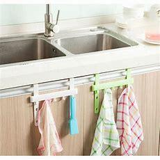 Kitchen Storage Rack 5 Hooks Holders Hangers Door Rack