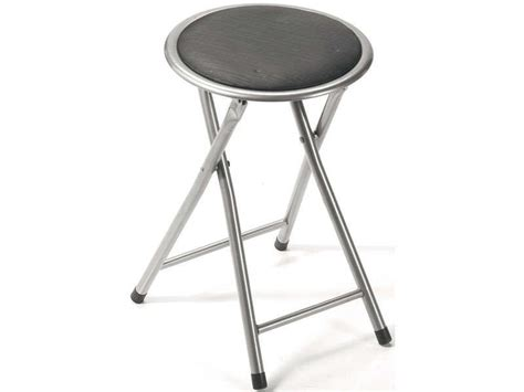 tabouret pliant folk coloris gris conforama pickture