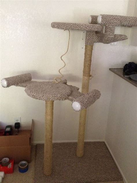 classy diy cat tree tower plans  list mymydiy