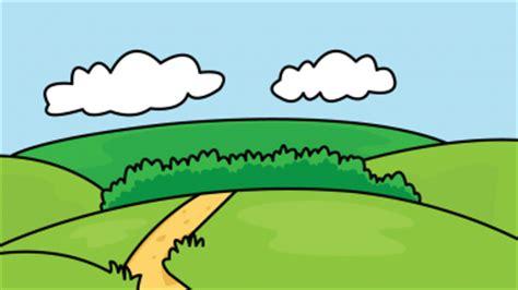 Easy Backgrounds To Draw How To Draw Backgrounds Nature A River A Clouds A