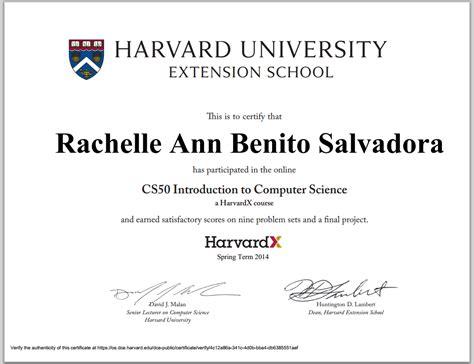 image gallery harvard extension certificate