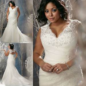 free shipping bangkok style trumpet v neck beaded sweep With plus size wedding dresses mermaid style