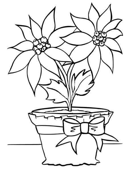 flower pot coloring pages getcoloringpagescom