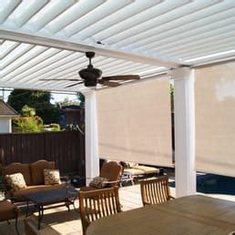 louvered patio cover with drop shades yelp