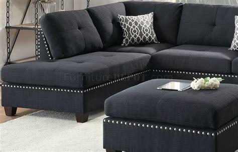 Black Fabric Couches Sofas Divani Casa Diamond Modern