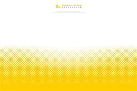 Abstract yellow color halftone minimal geometric pattern