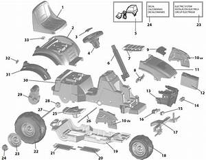 Peg Perego Lil Red Tractor Parts