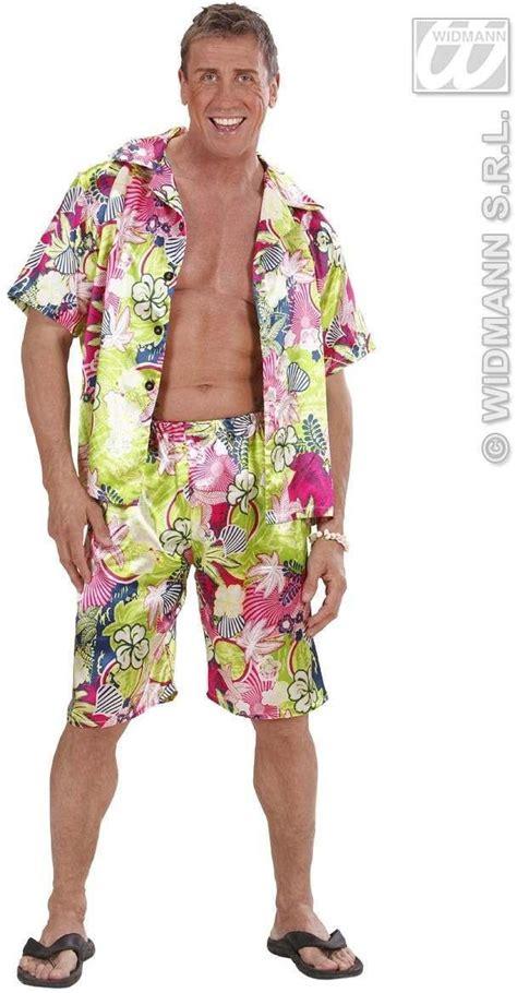 Hawaiian Man Fancy Dress Costume Mens (Hawaiian)