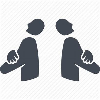 Conflict Icon Disagreement Clash Clipart Transparent Library