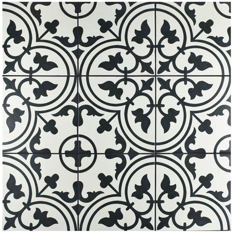 Black And White Floor Tiles by Elitetile Artea 9 75 Quot X 9 75 Quot Porcelain Field Tile In