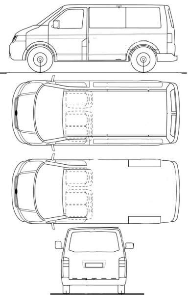 t4 swb line drawings to help you vw t4 forum vw t5 forum