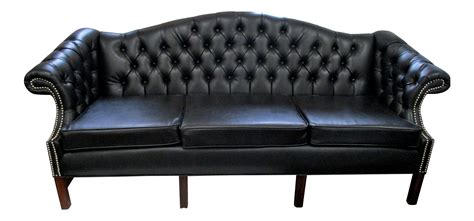 faux chesterfield sofa black faux leather chesterfield sofa chairish