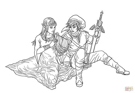 Legend Of Zelda Four Swords Coloring Pages Coloring Pages