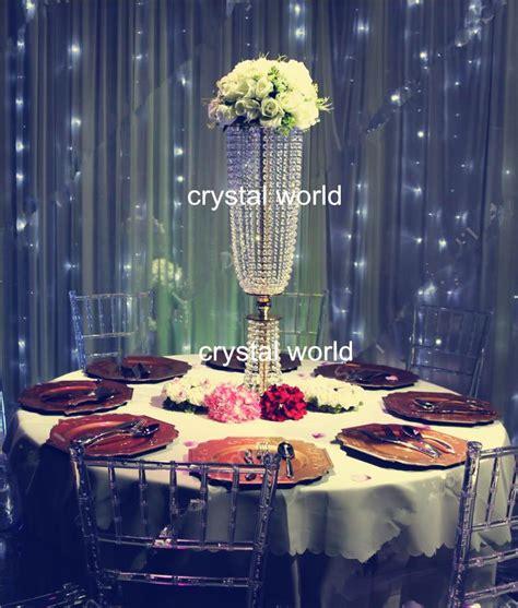 crystal acrylic  centerpieces  wedding table