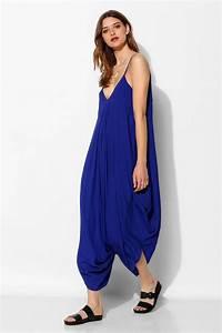 Lyst - Indah Drapey Harem Pant Jumpsuit in Blue